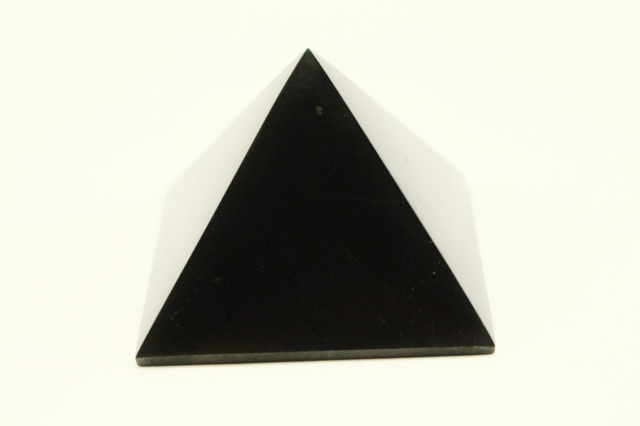Crystal Dreams Small Polished Shungite Crystal Pyramid 100% Natural