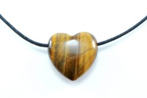 Crystal Dreams Necklace With Tiger Eye Crystal Heart Pendant