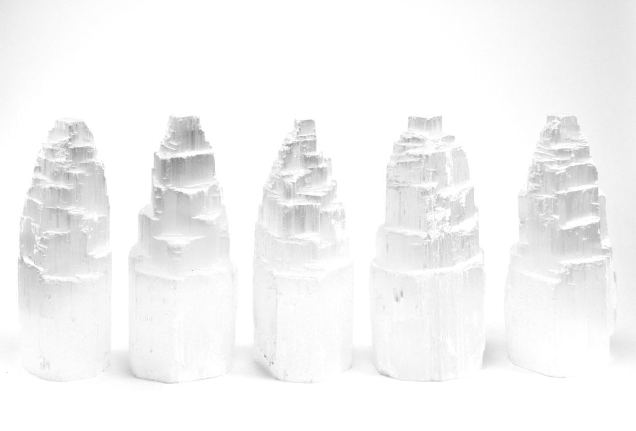 Crystal Dreams Rough Selenite Crystal Tower From Morocco 2