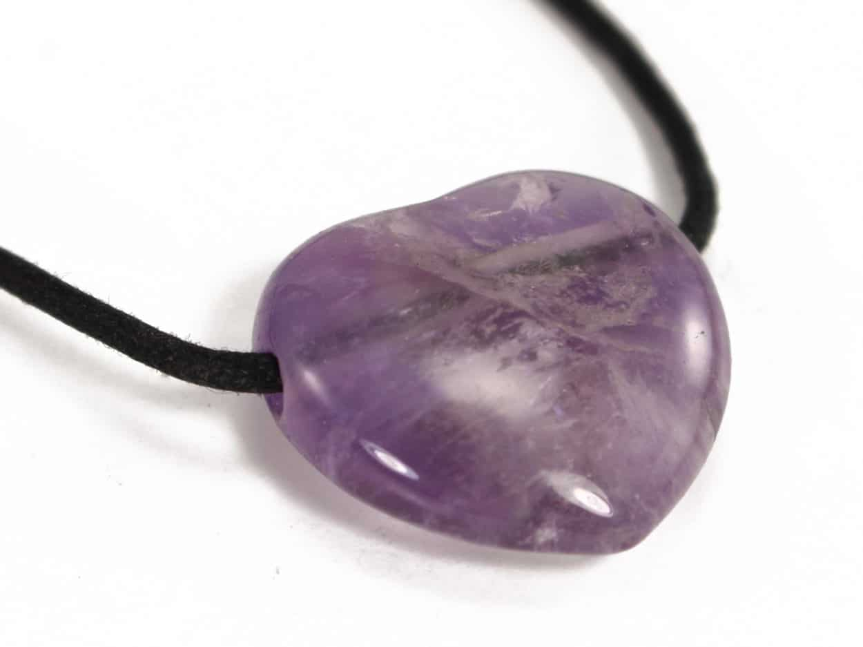 Necklace with amethyst crystal heart pendant crystal dreams world crystal dreams necklace with amethyst crystal heart pendant come and visit us and get one aloadofball Image collections